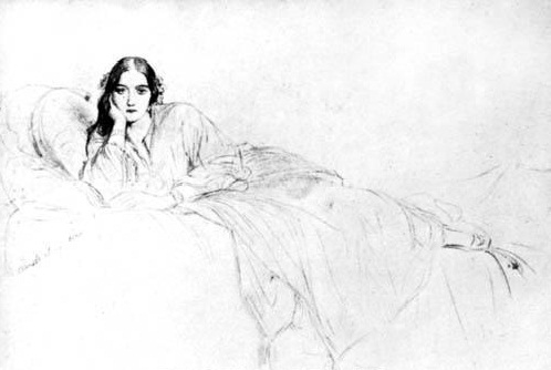 Delfina Potocka, drawing by Paul Delaroche