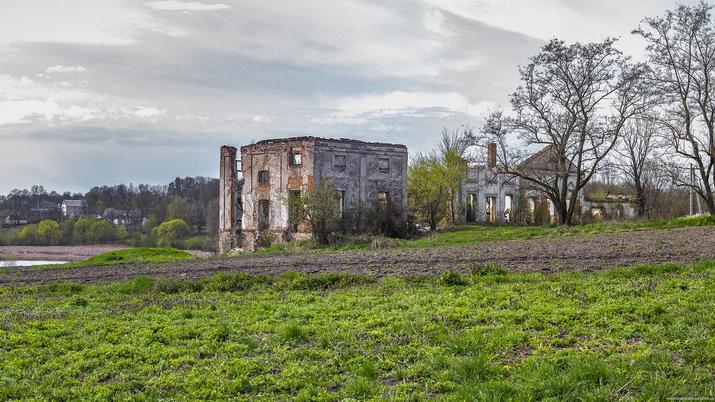 Андрушевка, Вид на дворец 2015-