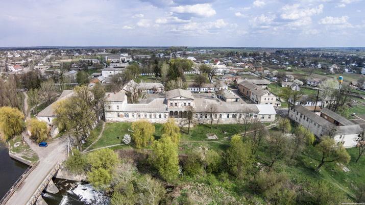 Дашев. Дворец Потоцких, авиапанорама. Фото MadMax