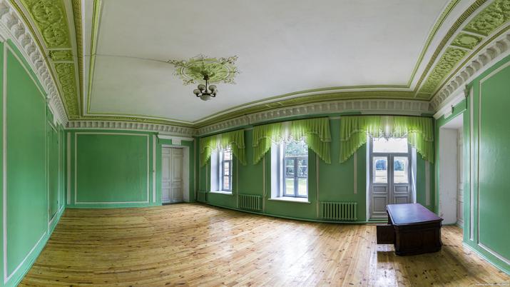 Андрушевка. Интерьер. Зеленый зал.