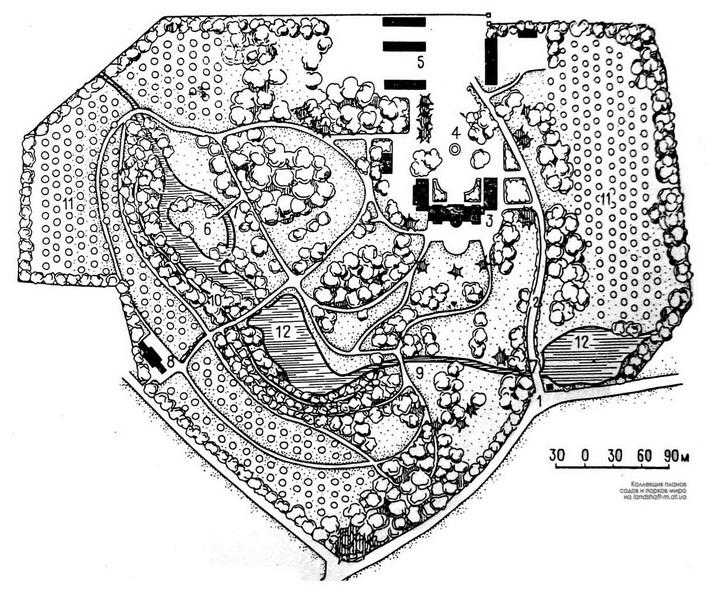 Антопольский парк. План