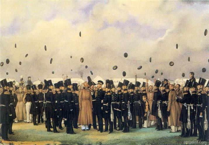 Встреча в лагере лейб-гвардии Финляндского полка великого Князя Михаила Павловича 8 июля 1837-