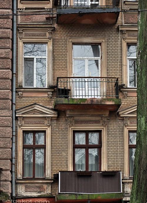Нежинская 30, дом Щербакова. Балкон фасада1