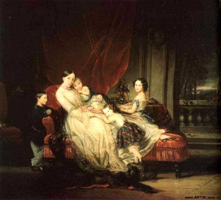 Портрет княжны Марии Николаевны с детьми