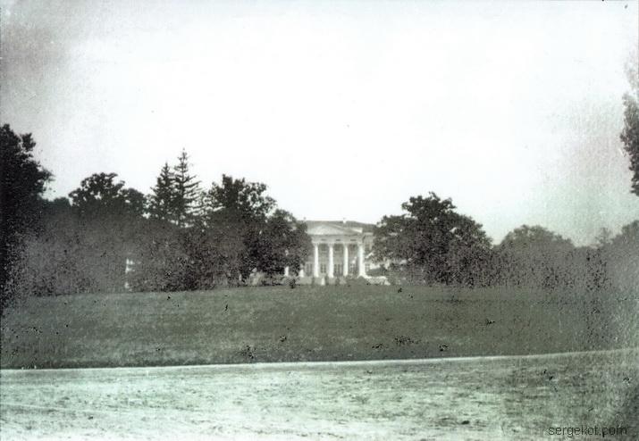 1914 год. Газон перед главным фасадом Черноминского дворца.