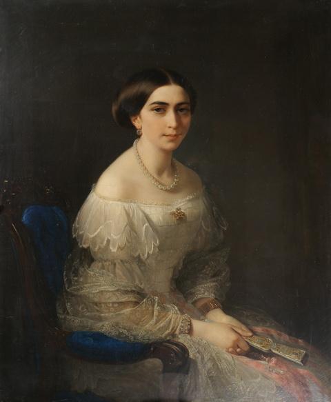 портрет-второй-четверти-19-века-приобретён-у-Э.М.-Севастопуло-в-1920-году.-Изображена-Эрато-Матвеевна-Севастопуло-урожд.-Маврокордат