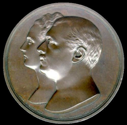 Медаль в честь князя Павла Павловича и его жены, княгини Елены Петровны, Демидовых - Сан-Донато