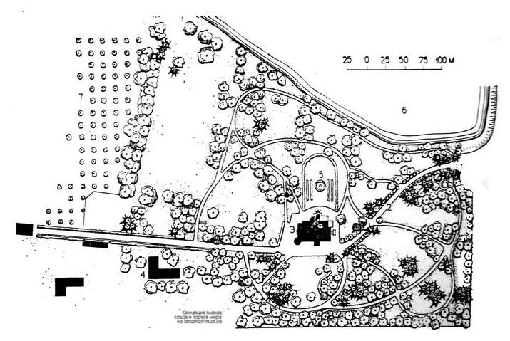 План парка в Верховке