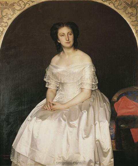 Sergey Zaryanko (1818–1871) Портрет княгини Марии Васильевны Воронцовой, ур. Трубецкая, в первом браке Столыпина (1851).