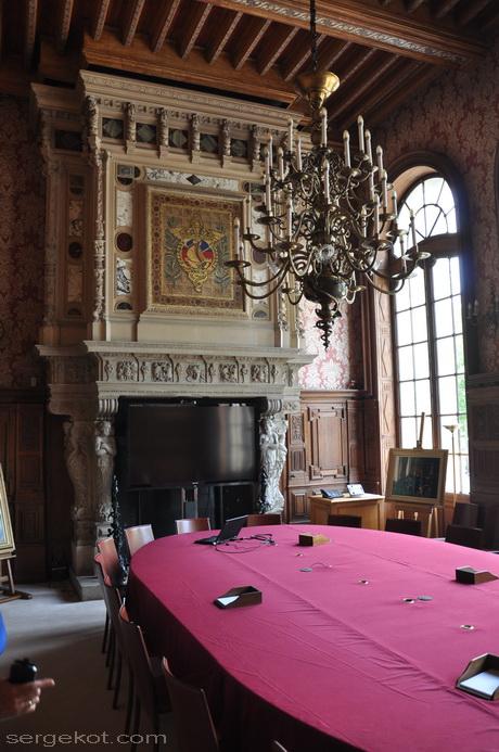 Paris. 25 Avenue Friedland. L'hôtel Potocki. Salon littéraire Emmanuel