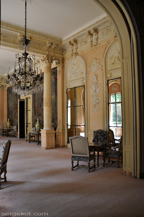 Paris. 25 Avenue Friedland. L'hôtel Potocki. Grand salon.