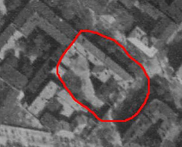Аэрофотосъемка Княжеской 5,  1944