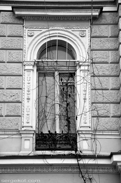 Екатерининская площадь 6. Дом Ждановой. Окно второго этажа..
