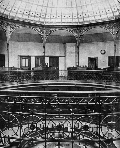 Русский для Внешний торговли банк. Главный зал.1889
