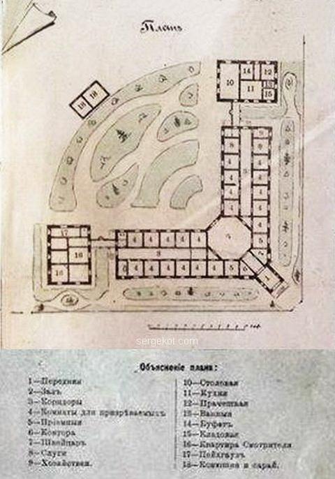 План территории Убежища для привилегированных. .