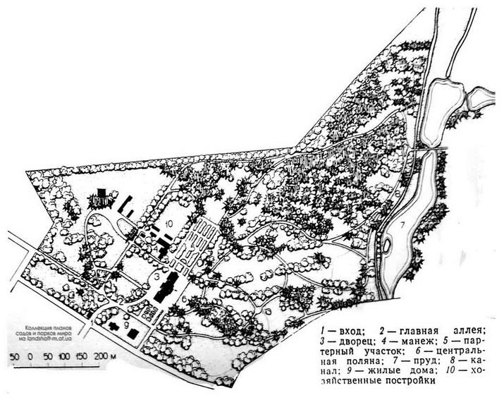 Немиров, парк, план