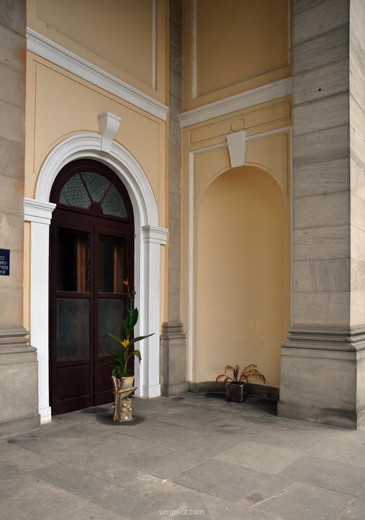Немиров. Дверь в портике паркового фасада