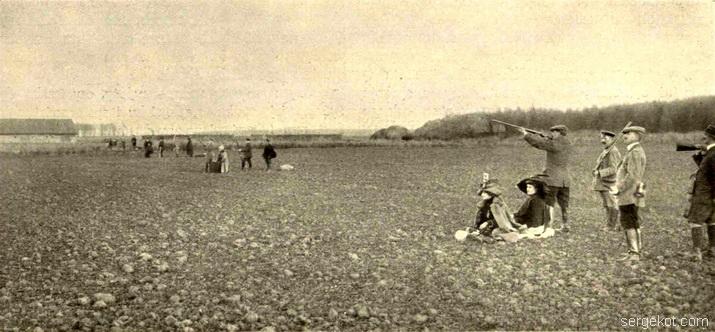 Леськова. Охота на фазанов в имении Даховского.