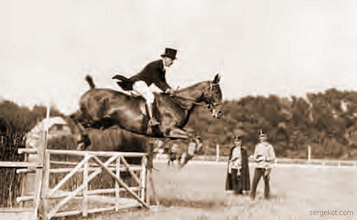 Тадеуш Даховский на лошади Мира, Вена. 1910-13 гг