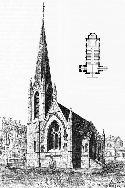Проект англиканской церкви в Одессе. 1894