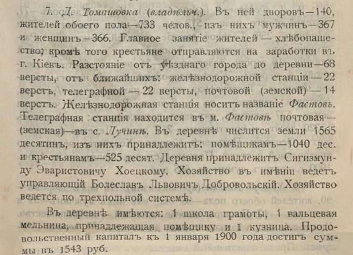 Список населенных мест Киевской губ. 1900