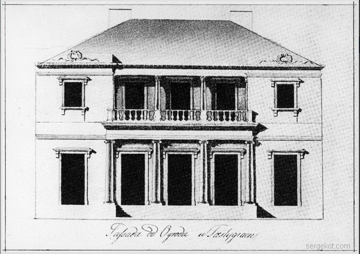 Александрия. Проект Третьего павильона. Садовый фасад.