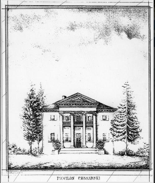 """Александрия, эскиз""""императорского павильона"""", 1847-48 гг."""