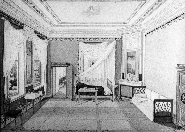 Александрия. Четвертый павильон. Спальня Артура Потоцкгго. 1828 год.