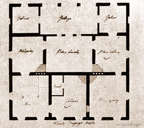 Александрия. Монарший павильон. План второго этажа.