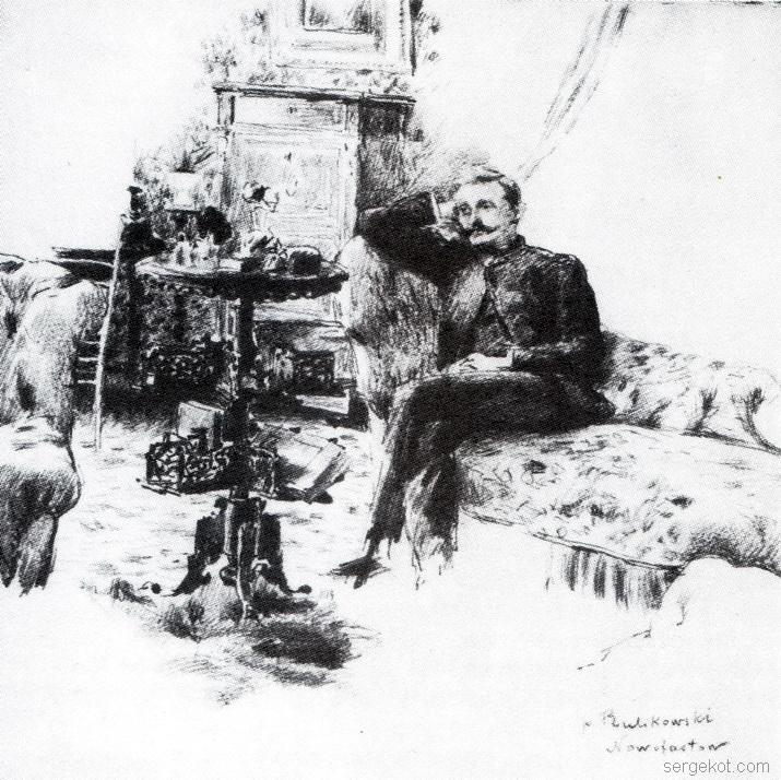 Новофастов, портрет, Эдвард, Руликовский, 1884