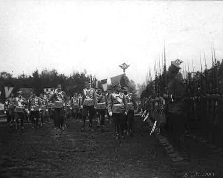 Преображенский полк, Полковой праздник. батальон. Император Николай II, граф, Н.Н. Игнатьев, 1913